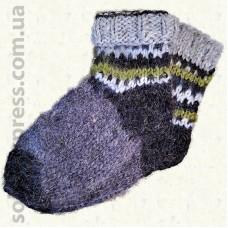 Носки из овечьей шерсти Гуцульские- 01