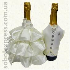 Украшение на шампанское без фаты 01