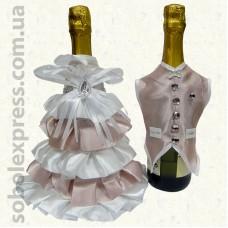 Украшение на шампанское без фаты 02