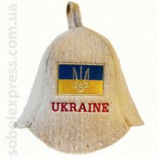 """Шапка для сауны """"UKRAINE"""""""