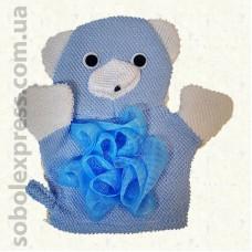 Мочалка-игрушка на руку Медвеженок