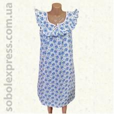Ночная сорочка женская ситцевая рюшевая -03