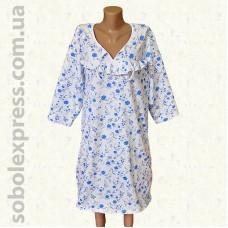 Ночная сорочка байковая с рукавом -02