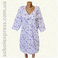 Ночная сорочка байковая с рукавом -01
