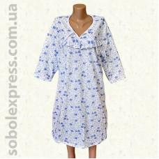 Ночная сорочка байковая с рукавом -03