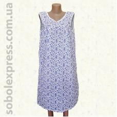 Ночная сорочка женская ситцевая без рукава -01