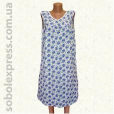 Ночная сорочка женская ситцевая без рукава -03