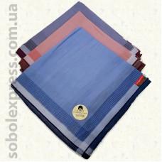 Мужской носовой платок 38х38 см. Комплект 12 штук M -06
