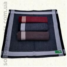 Мужской носовой платок 30х30 см. Комплект 12 штук M -08