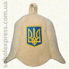 """Шапка для сауны малая """"Герб Украины"""""""