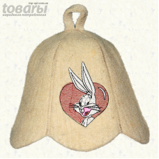 """Шапка для сауны малая """"Кролик"""""""