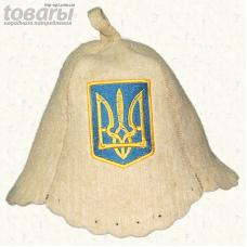 """Шапка для сауны """"Герб Украины"""""""