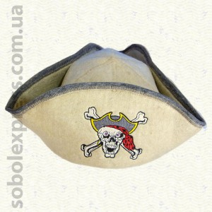 """Шапка для сауны модельная """"Пиратская"""""""