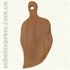 Доска деревянная фигурная Лист 27 см
