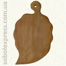 Доска деревянная фигурная Лист 38 см