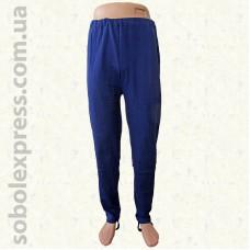 Спортивные мужские штаны с лямкой синие Николаевский трикотаж
