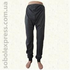 Спортивные мужские штаны трикотажные с манжетом серые Белорусский трикотаж
