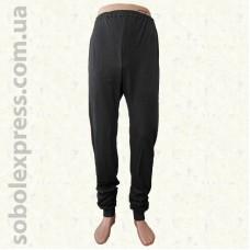Спортивные мужские штаны трикотажные с манжетом черные Белорусский трикотаж