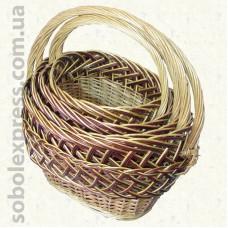 Корзинка плетёная из лозы комплект из 4 штук