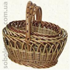 Корзинка плетеная из лозы комплект из 4 штук