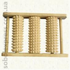Массажер деревянный роликовый для ног 50-05