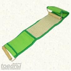 Мочалка антицеллюлитная сизаль мелкий с деревянными ручками