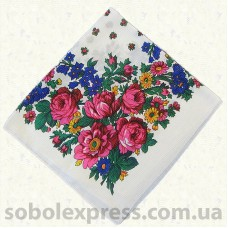 Платок многоцветный с люрексом 010