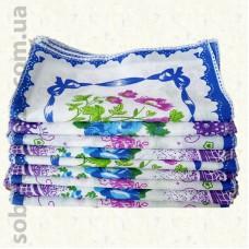 Женский носовой платок 20 х 20 см. Комплект 10 штук