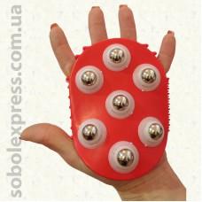 Массажер силиконовый с металлическими шариками - 01