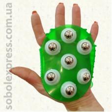 Массажер силиконовый с металлическими шариками - 02