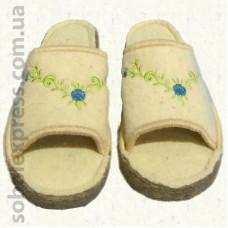 Тапочки войлочные с вышивкой (36-38)