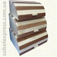 Хлебница деревянная. Комплект из 3 штук