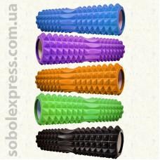 Валик для йоги масажний EVA 45/12 см